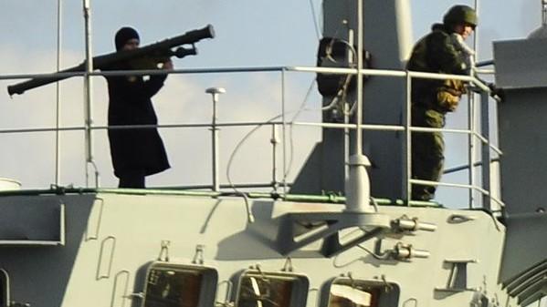 фото российского моряка с пзрк в босфоре